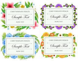 Conception de modèle de carte avec des bordures de fleurs