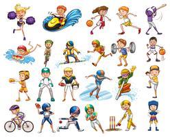 Différents types de sports vecteur