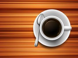 Café sur une table vecteur