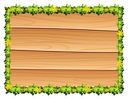 Planche de bois à décor de fleurs