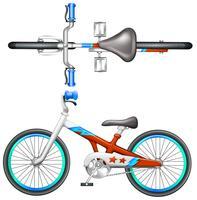 Une bicyclette vecteur