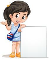 Petite fille avec signe vide