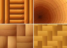 Quatre texture de fond de bois vecteur