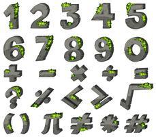 Conception des polices pour les chiffres et les signes vecteur