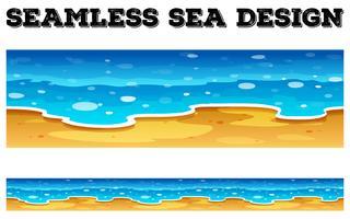 Design de fond sans couture avec l'océan bleu