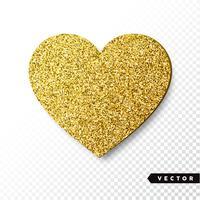 Coeur scintillant d'or