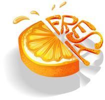 Orange vecteur