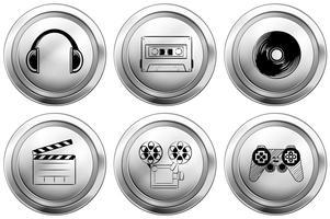 Conception d'icônes pour les équipements de divertissement vecteur