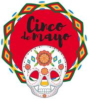 Cinco de Mayo avec masque de crâne