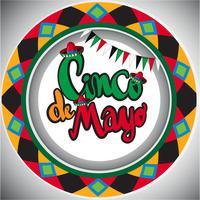 Modèle de carte Cinco de Mayo avec design rond