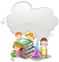Enfants et laboratoire scientifique
