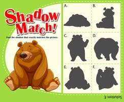 Modèle de jeu pour ours correspondant à l'ombre vecteur