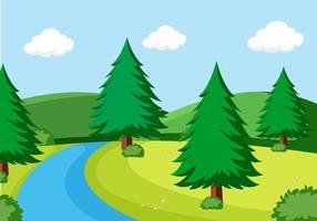 Une simple scène de nature vecteur