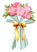Un bouquet de roses roses