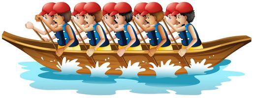 Course de bateaux vecteur
