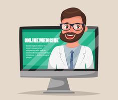 Médecine en ligne vecteur