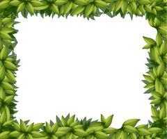 Bordure en feuilles