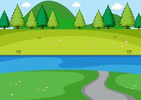 Une simple scène de parc vecteur