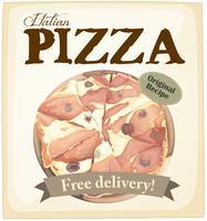 Affiche de pizza