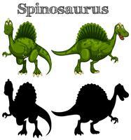 Deux spinosaurus sur fond blanc vecteur