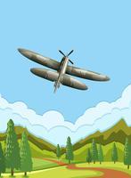 Un avion de l'armée sur le ciel