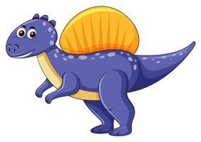 Dinosaure Spinosaurus sur fond blanc vecteur