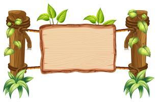Tableau blanc en bois nature vecteur