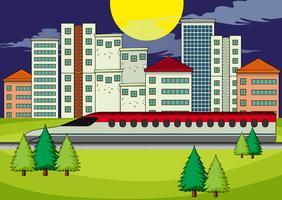 Un transport dans la ville moderne vecteur