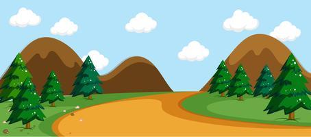 Une scène de route nature simple vecteur
