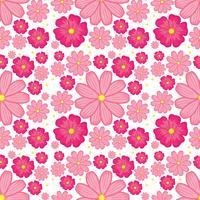 Fond transparent de fleur rose vecteur