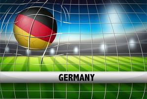 Drapeau de football allemand vecteur