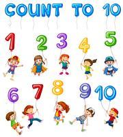 Carte de mathématiques Numéro du chapitre de couting vecteur