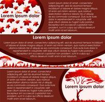 Design de fond avec texte et arbre vecteur