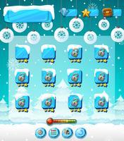 Modèle de jeu en plein air d'hiver
