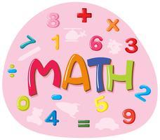 Conception autocollant pour mot math vecteur