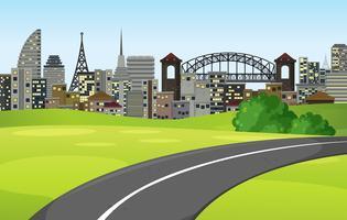 Une route vers la grande ville