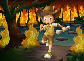 Explorateur de forêt en cours de Wildfire