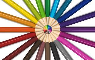 Différentes couleurs pour les crayons de couleur vecteur