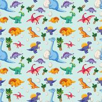 Dinosaure sur modèle sans couture vecteur