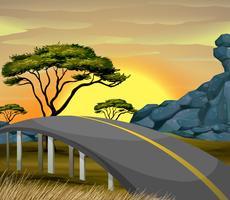 Pont sur le terrain de savane