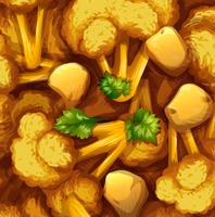 Poulet au curry jaune et légumes vecteur