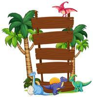 Modèle de planche de bois dinosaure