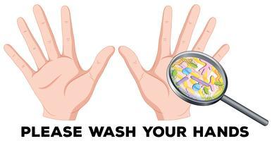 Un signe de se laver les mains vecteur