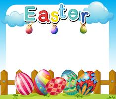 Un modèle de dimanche de Pâques