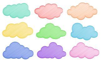 Des nuages vecteur