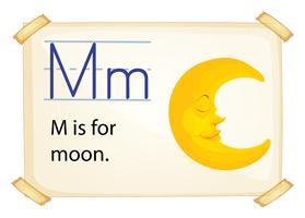 Une lettre M pour la lune vecteur