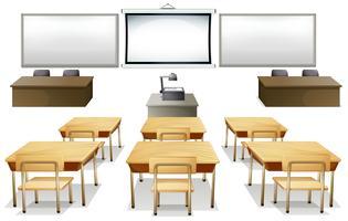 salle de cours vecteur