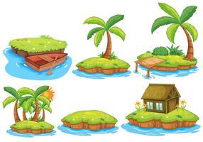 îles vecteur