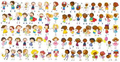 Enfants culturels vecteur