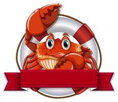 Crabe et signe vecteur